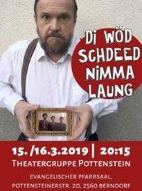 Plakat Theaterstück Di Wöd schdeed nimma laung