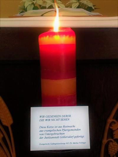 Kerze Gefängnisseelsorge