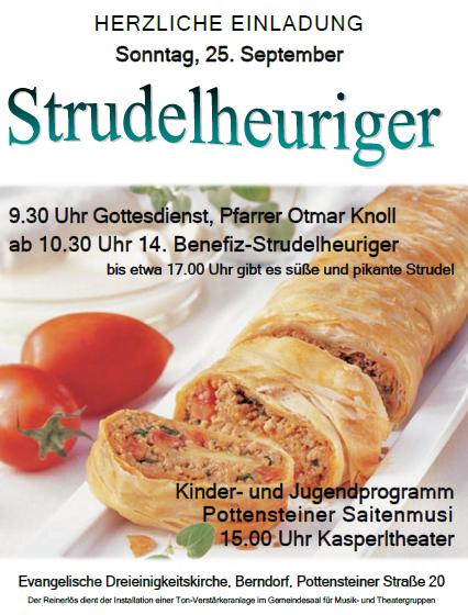 Plakat Strudelheuriger 2016