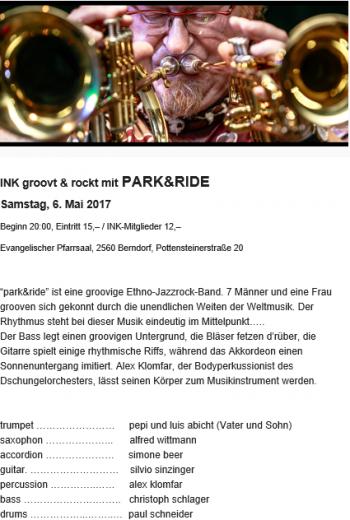park&ride Plakat